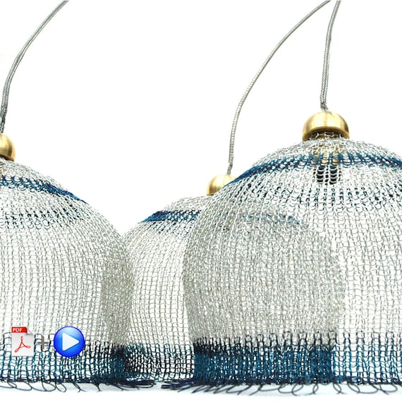 Wire lampshade pattern crocheted light pendant diy home decor wire lampshade pattern crocheted light pendant diy home decor instructions video tutorial and pdf ebook from yoola on etsy studio greentooth Gallery