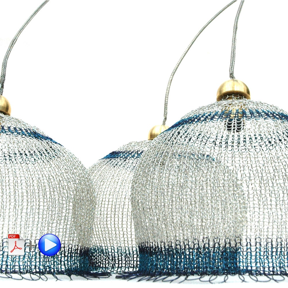 Wire lampshade pattern crocheted light pendant diy home decor wire lampshade pattern crocheted light pendant diy home decor instructions video tutorial and pdf ebook keyboard keysfo Images