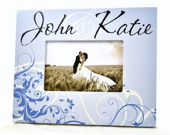 Personalized Picture Frame for 4x6 Photo Wedding or Anniversary Gift UPJK-01