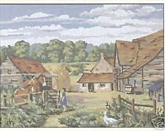 The Farmyard Tapestry Needlepoint Canvas DMC