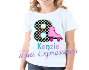 Roller Skate Birthday shirt Personalized just for you