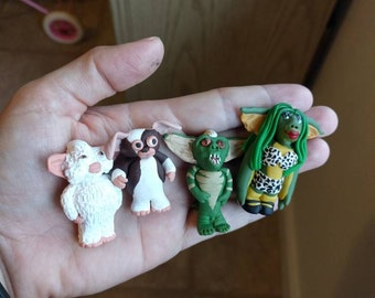 Gremlin tokens, board game tokens, game pieces, gremlin figurines, mogwai, figurines, movie figures