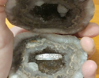 Free shipping USA geode/geode ring box