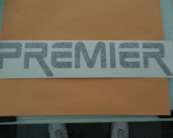 PREMIER DRUMS Vinyl Sticker in BLACK