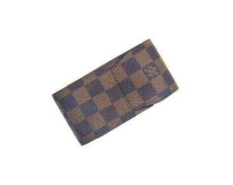 Authentic Vintage Louis Vuitton Danube Canvas Leather Pochette Accessories Shoulder Clutch Bag