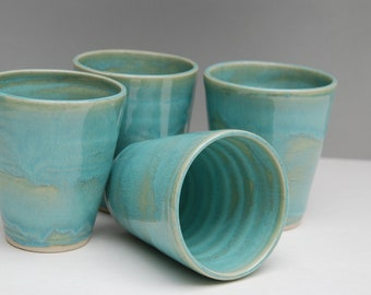 Handmade pottery SET. Tumbler or cup SET.
