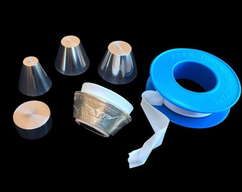"Universal STAINLESS STEEL Stabilizer Folding Cones and Spacer SET for all 1/4"" inch - 5/8""+ inch holes in Coin Rings"