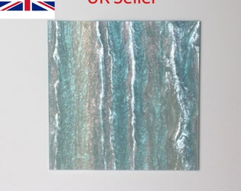 3mm W503 Blue and white marble acrylic perspex with glitter 600x370mm