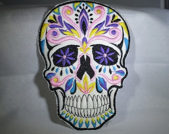 Day of the Dead Sugar Skull Iron-on Applique
