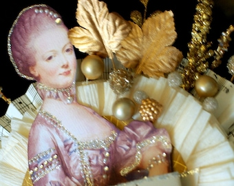 Marie Antoinette Gold Cake Top - Autumn Cake Top - Eat Cake - Glamour Cake Top - Birthday Party Cake Top - Bridal Shower Cake Top