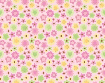 Pink Floral Fabric - Riley Blake - Sweet Baby Girl