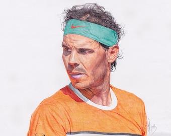 Rafael Nadal Original Drawing