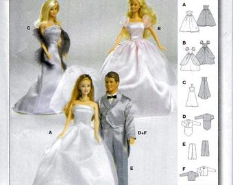 Burda 8307 Barbie & Ken Doll Sewing Pattern