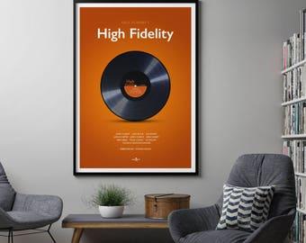 High Fidelity Film Poster Art Print, High Fidelity. Film Poster, Movie Poster, Minimalist Movie Poster, Nick Hornby, Cult Film Poster