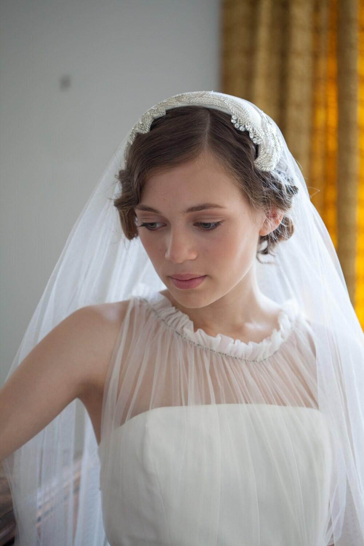 wedding headpiece and veil vintage style bridal headpiece