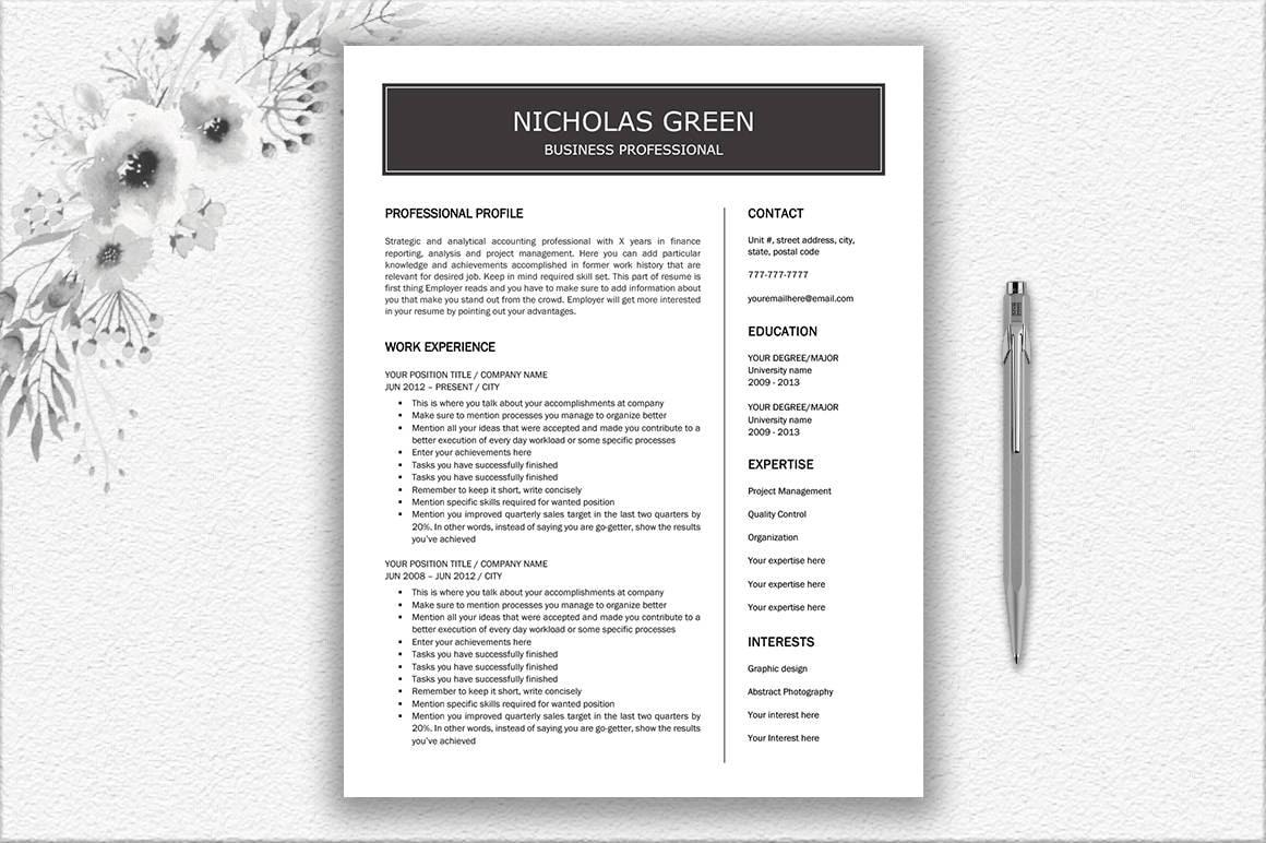 Diseño de curriculum vitae simple diseño de carta de