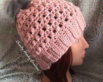 Crochet beanie, crochet toque, crochet hat