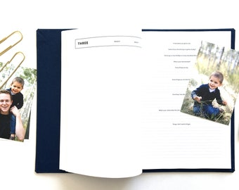 Heirloom Photo Journal NAVY | Baby Book | Parent Journal | Childhood Journal