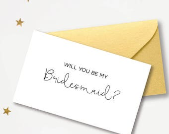 Printable Will you be my Bridesmaid? Card