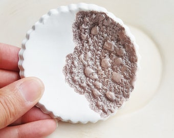 Rose Gold Ring Bowl, Wedding Clay Ring Dish, Bridemaids Gift, Clay Jewelry Dish, Ring Dish, Catchall Dish, Jewelry Holder