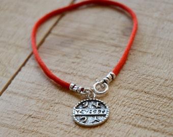 Health Amulet on Red String Bracelet for Men & Women