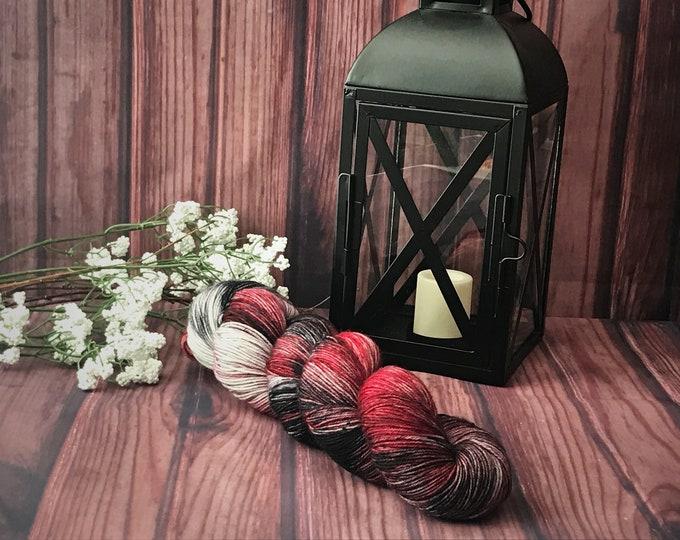 Hand Dyed Yarn, Indie Dyed Yarn, Wool Yarn - Inspired by The Handmaid's Tale, Gilead on Simple Sock