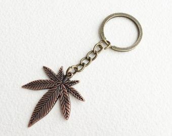 Marijuana keychain,stocking stuffer,key chain,stoner gift,women,men,key holder,key ring,weed leaf cannabis Marijuana wholesale SMKC-0000-BXX