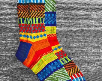 Custom order for Shannon....Socks, Hand Knit Unique Reversed Socks, Socks, Boho Socks, Hipster Socks,  - MADE TO ORDER