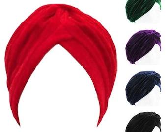Velvet Style Turban Vintage Look  30's 40's 50's
