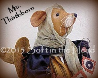 Mrs. Thistleborn the Witch Mouse E-Pattern