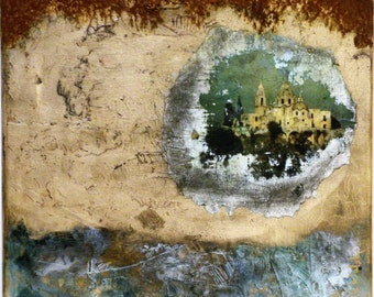 """Castle and Rust 12""""x12""""x .5""""  Original, One-of-a-Kind, Collectible Art, New Art"""