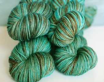 Turquoise Mine:  Lux MCN Sport Wt Yarn