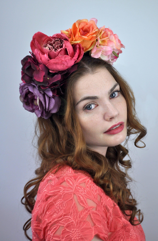 Sadie ombre flower crown headband izmirmasajfo