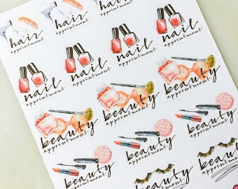 Beauty Appointment Planner Sticker