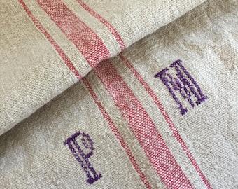Vintage Linen Grain Sack 115x43cm