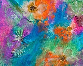 "Handmade art card ""Flower Collage"""