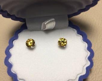 Yellow Zircon Earrings