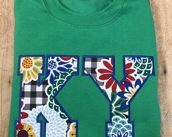 KY applique sweatshirt - kelly green