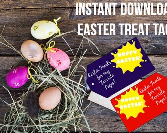 8 RED & PURPLE EASTER Tags - Easter Printable Tags - Mini Eggs - Creme Egg Tags - Instant Download - Pdf File Included - Printable Easter