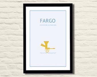 Fargo Movie Poster Art Print 11 X 17, Modern Poster, Home Decor