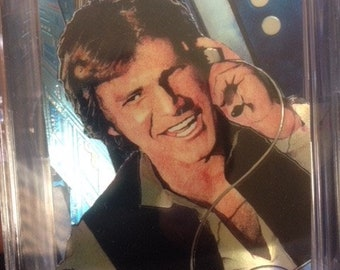 Star Wars original 3D pop up collectible art cards-hand made-chrome-Han Solo
