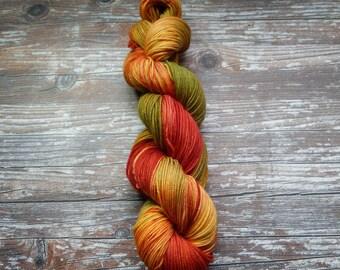 merino silk sport weight hand dyed indie yarn 100g skein 325 yards