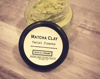 Matcha Green Tea Facial Clay Mask - matcha clay mask - purifying mask - clay facial mask - antioxidant mask - vegan face mask