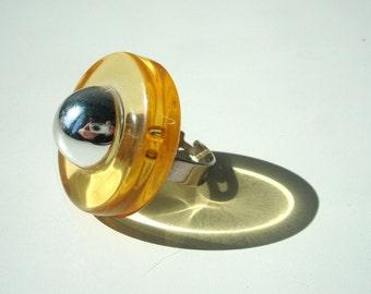 Funky 80's Orange Ring