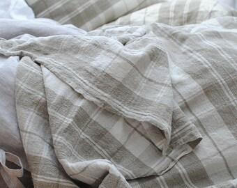 Linen throw blanket, oversized linen throw, linen picnic blanket, linen bedspread, linen beach blanket, linen summer blanket, linen gifts