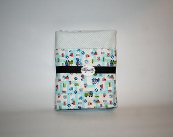 Tiny Transportation flannel baby blanket, reversible blanket, baby shower gift, baby blanket, ready to ship, receiving blanket