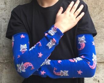 Mermaid Cat Leg Warmers for Baby, Toddler, Kid, Tween - Arm Warmers for Kid, Tween - Boy or Girl - Birthdays, Baby Showers, Costumes