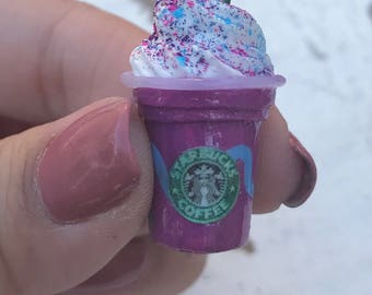Starbucks Inspired Unicorn Frappuccino Charm Necklace
