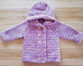 Made To Order Personalised Crochet Knitted Handmade Child Toddler Baby Kids Jacket Cardigan Custom Order Pattern Knit Handknitted