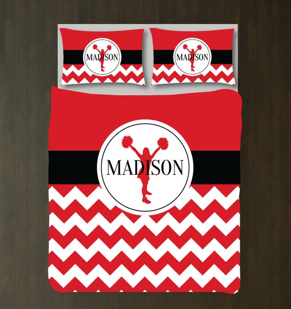 Cheer Duvet Cover Shams Monogrammed Name Custom Bedding